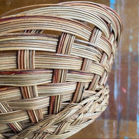 Vintage Wicker Woven Wall Basket